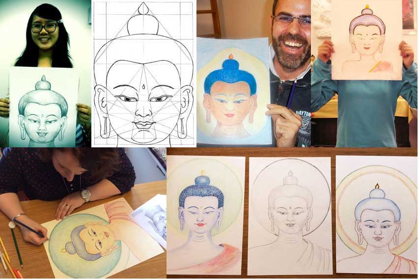 Gezicht van de Boeddha