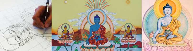 Hoe Boeddha schilderen?