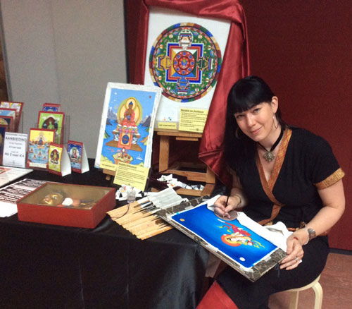 cursussen en workshops in thangka