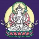 Avalokiteshvara, geschilderd door Carmen Mensink