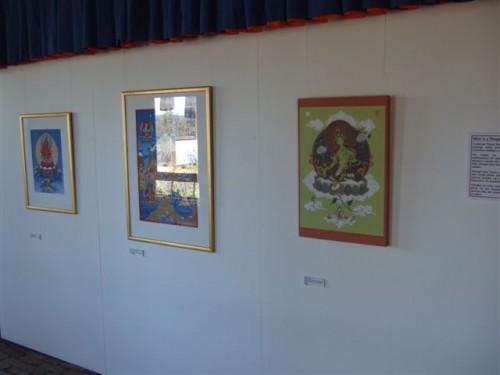 Groene Tara van Carmen Mensink op een expositie in Australië