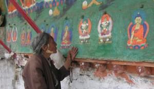 Vrouw in Tibet