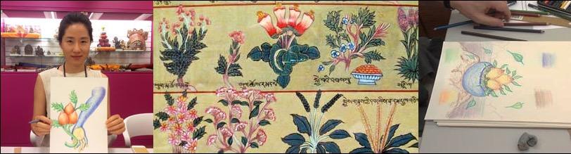 Planten en kruiden tekenen en schilderen volgens de tibetaanse kunst