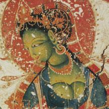 Muurschildering tibetaanse kunst