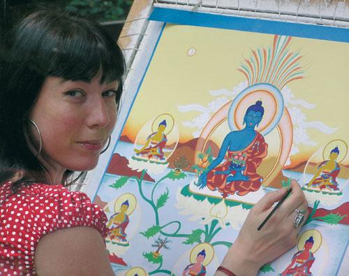 8 Medicijnboeddha schildering