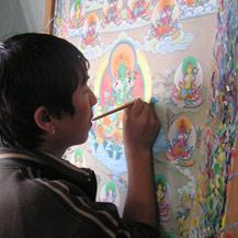Een nepalese Boeddhaschilder