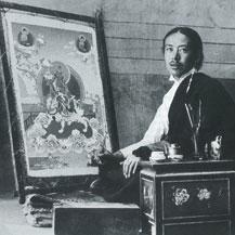 tibetaanse thangka schilder