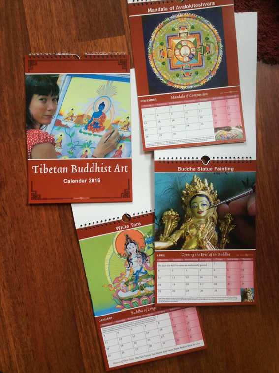 Kalender Tibetaans Boeddhistische Kunst 2016
