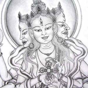 Ushnisha Vijaya, Boeddha van Lang Leven, getekend door Carmen Mensink